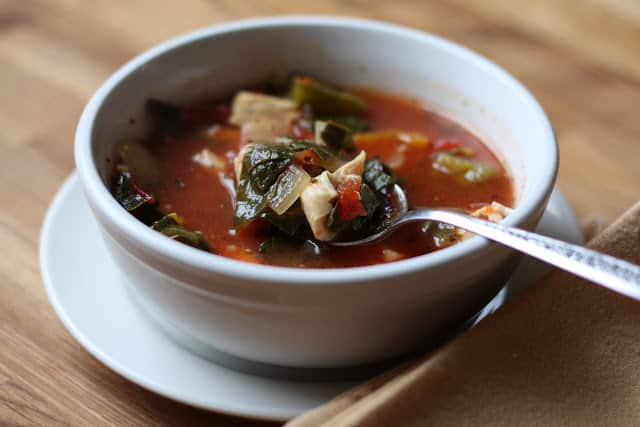 Swiss Chard Chicken Soup recipe by Barefeet In The Kitchen