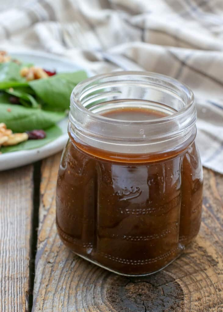 Balsamic Vinaigrette is a tangy sweet way to dress any salad - get the recipe at barefeetinthekitchen.com