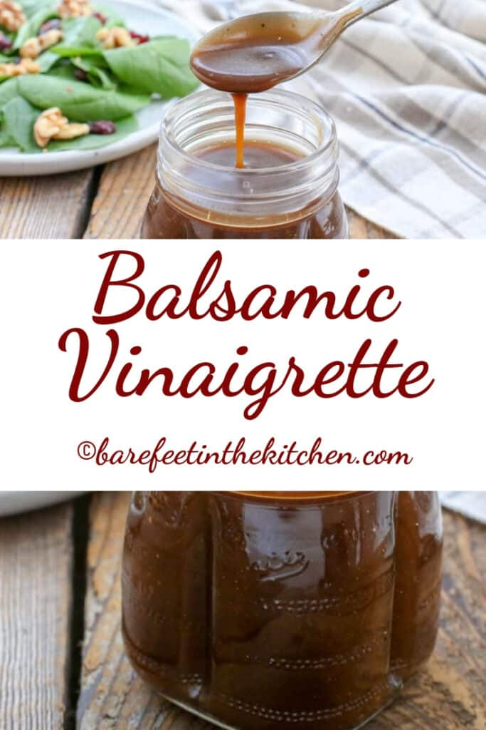 The BEST Balsamic Vinaigrette | barefeetinthekitchen com
