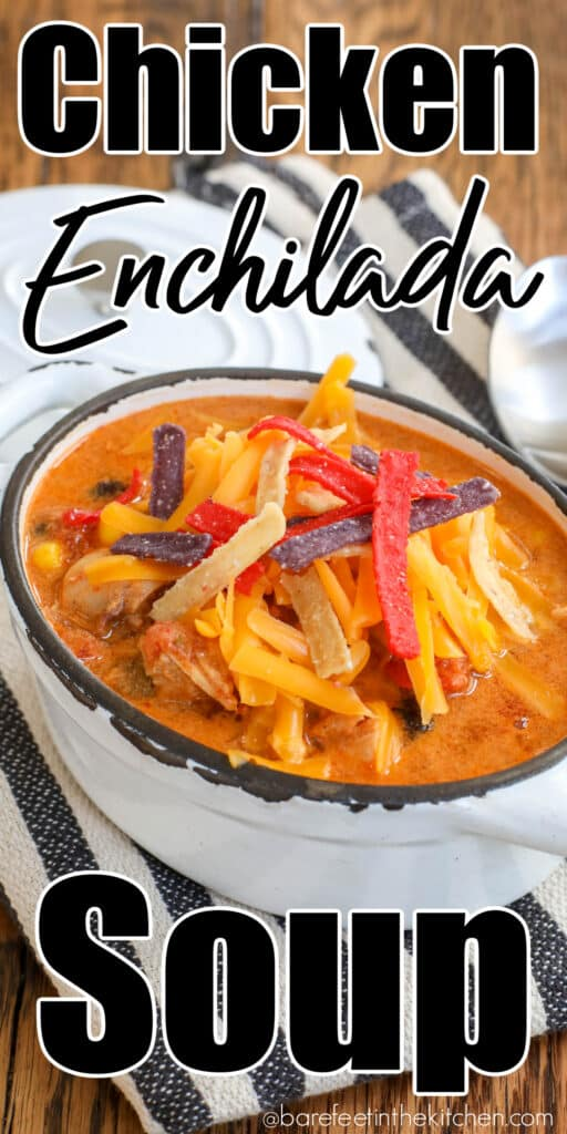 You are going to love this hearty Chicken Enchilada Soup