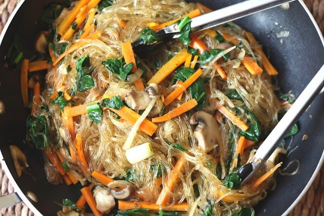 Jap Chae / Chap Chae - Korean Glass Noodles recipe by Barefeet In The Kitchen