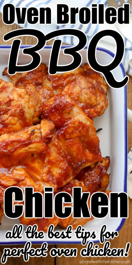Oven Broiled Chicken is a go-to weeknight dinner in our house!