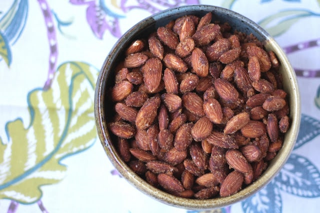 Sweet and Spicy Almonds with Brown Sugar and Cayenne recipe by Barefeet In The Kitchen