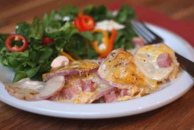 Ham and Turnip Gratin recipe by Barefeet In The Kitchen