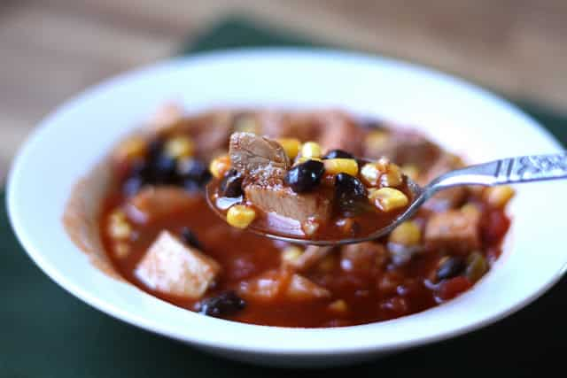 Simple Enchilada Soup with Chicken or Turkey recipe by Barefeet In The Kitchen
