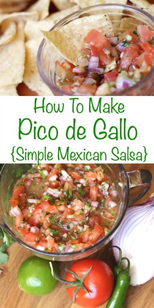 How To Make Pico De Gallo (simple Mexican salsa) - get the recipe at barefeetinthekitchen.com