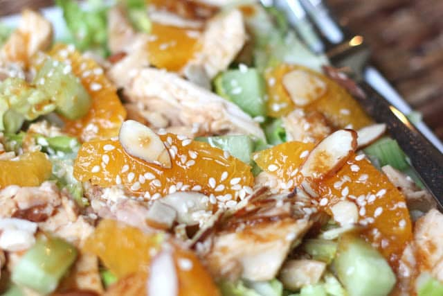 Chinese Chicken Salad with Ginger Sesame Dressing recipe by Barefeet ...