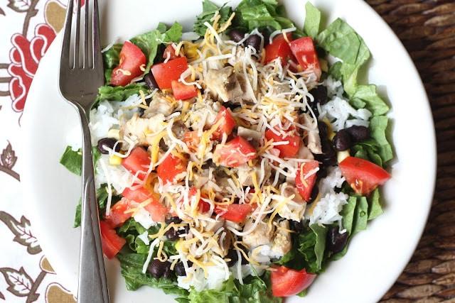 Mojo Chicken Burrito Bowls recipe by Barefeet In The Kitchen