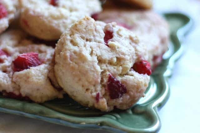 Strawberries and Cream Biscuits - Gluten Free or Not recipe by Barefeet In The Kitchen