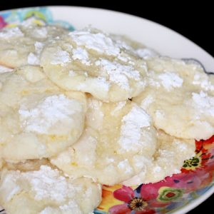 Lemon Crinkle Cookies {traditional and gluten free recipes}