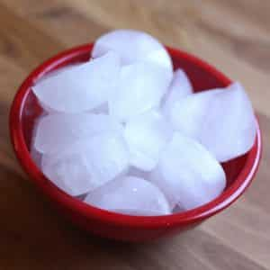 Coconut Water Ice Cubes