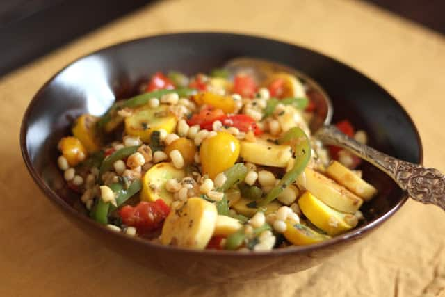 Corn, Tomato and Zucchini Skillet recipe by Barefeet In The Kitchen