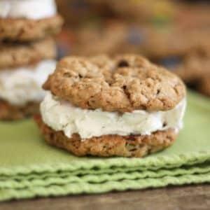Monster Cookie Ice Cream Sandwiches