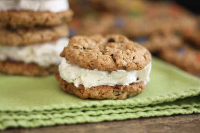 Monster Cookie Ice Cream Sandwiches recipe by Barefeet In The Kitchen