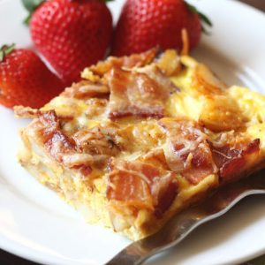 Red Potato and Bacon Quiche with Chipotle Peppers