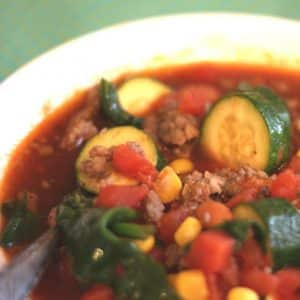 Spicy Mexican Bean and Vegetable Soup
