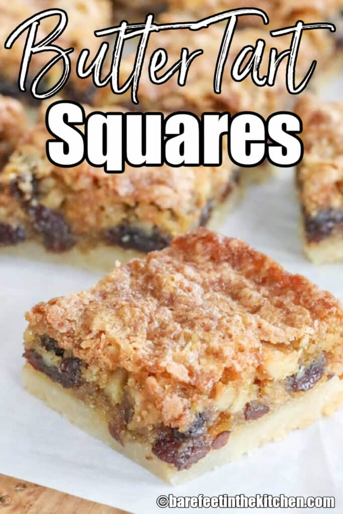 Butter Tart Squares - the ultimate Canadian dessert.