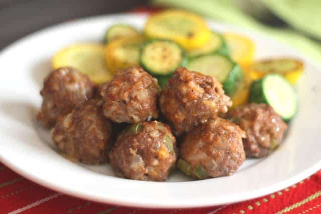 Spicy Stuffed Bell Pepper Meatballs recipe by Barefeet In The Kitchen