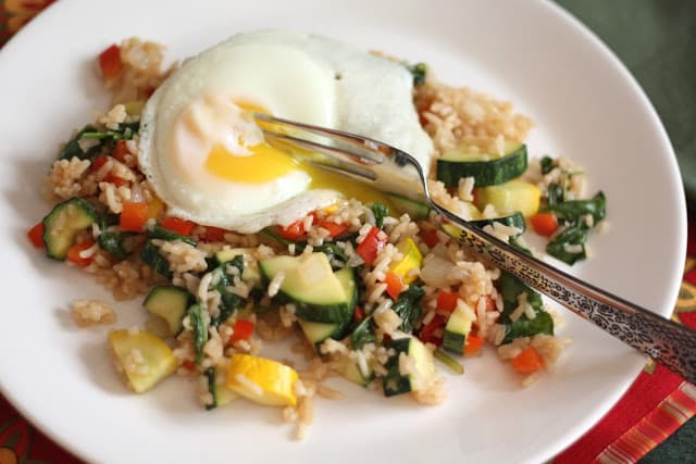 Zucchini Fried Rice recipe by Barefeet In The Kitchen