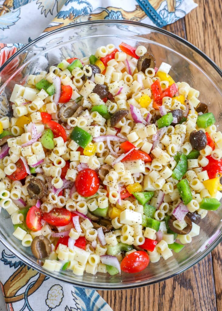 Vegetable Pasta Salad with Cheese