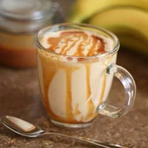 Caramel Peanut Butter Banana Milkshake Smoothie