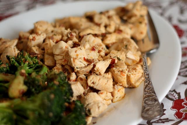 Chipotle Ranch Chicken Bites with Broccoli recipe by Barefeet In The Kitchen