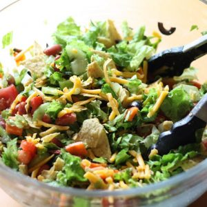 Bacon and Egg Chipotle Taco Salad