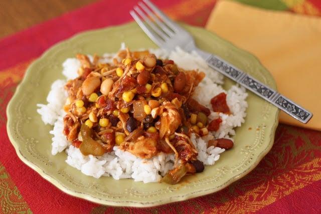 Spicy Chicken Tamale Pie recipe by Barefeet In The Kitchen