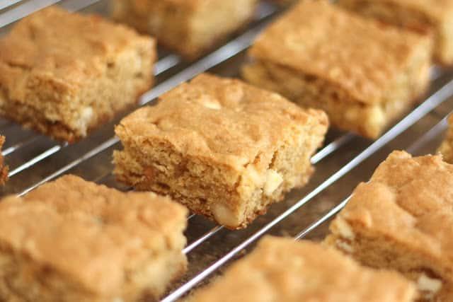White Chocolate Macadamia Nut Blondies recipe by Barefeet In The Kitchen