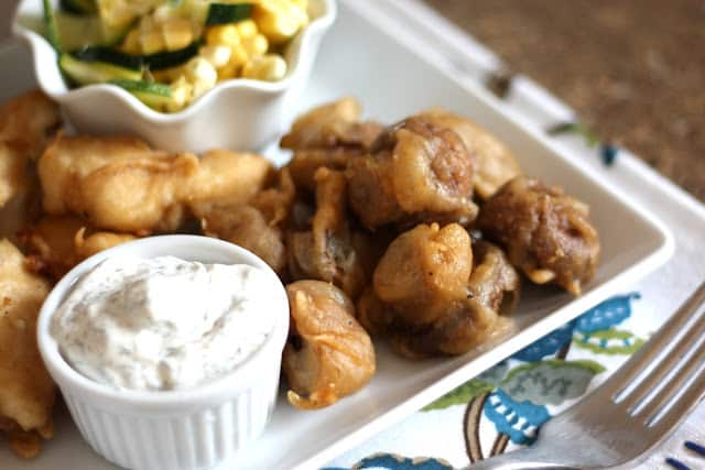 Beer Battered Mushrooms recipe by Barefeet In The Kitchen