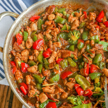 Chinese Vegetable Stir Fry with Chicken and Bacon