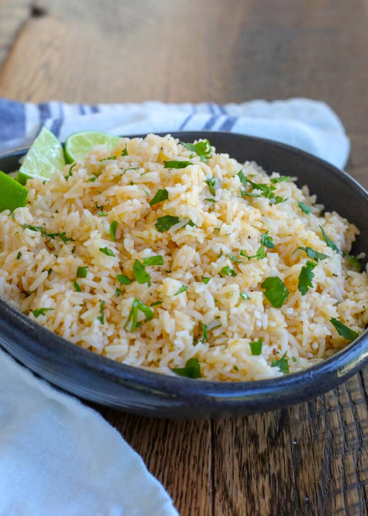 Chipotle and Lime Rice - get the recipe at barefeetinthekitchen.com