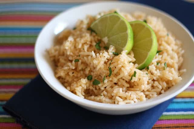 Chipotle Lime Rice recipe by Barefeet In The Kitchen
