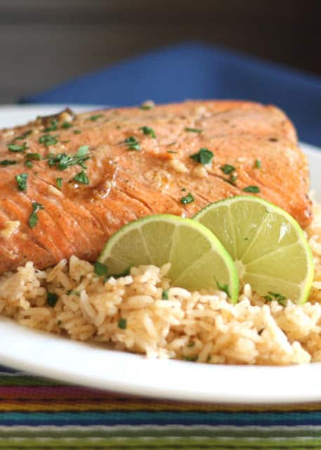 Chipotle Lime Salmon | barefeetinthekitchen.com