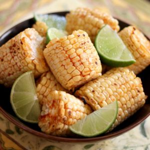 Broiled or Grilled Chili Lime Corn on the Cob