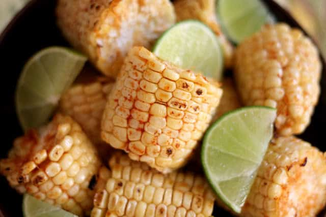 Broiled or Grilled Chili Lime Corn on the Cob | barefeetinthekitchen ...
