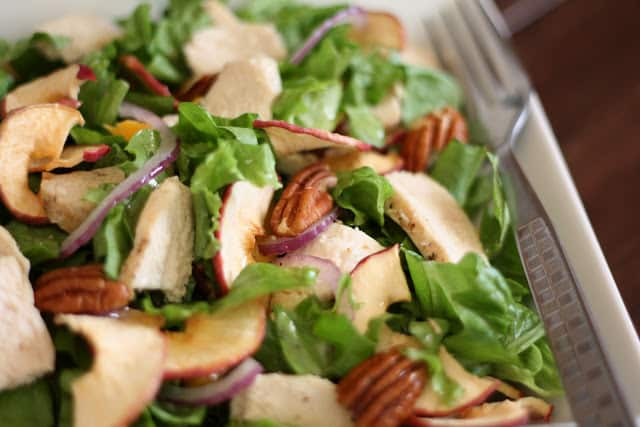 Fuji Apple Chicken Salad recipe by Barefeet In The Kitchen