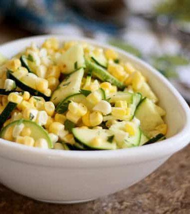 Raw Corn and Zucchini Salad with Lime Vinaigrette