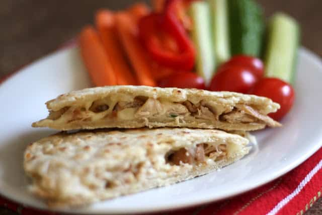 Asian Chicken Quesadillas recipe by Barefeet In The Kitchen