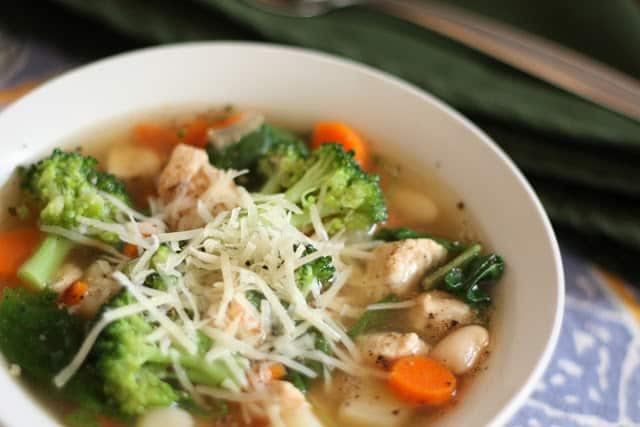 Chicken Vegetable Soup with Red Potatoes recipe by Barefeet In The Kitchen
