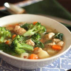 Chicken Vegetable Soup with Red Potatoes