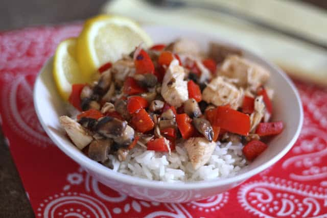 Lemon Butter Chicken with Peppers and Mushrooms recipe by Barefeet In The Kitchen