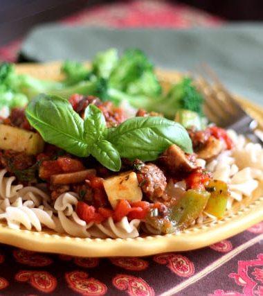 Vegetable Marinara Sauce with Fresh Basil