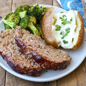 Balsamic Glazed Meatloaf is a dinnertime game changer! Get the recipe at barefeetinthekitchen.com