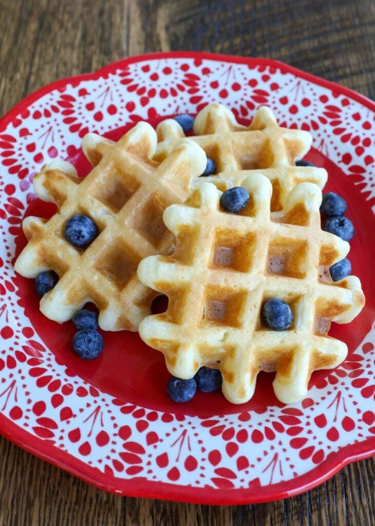 Crispy fluffy Buttermilk Waffles