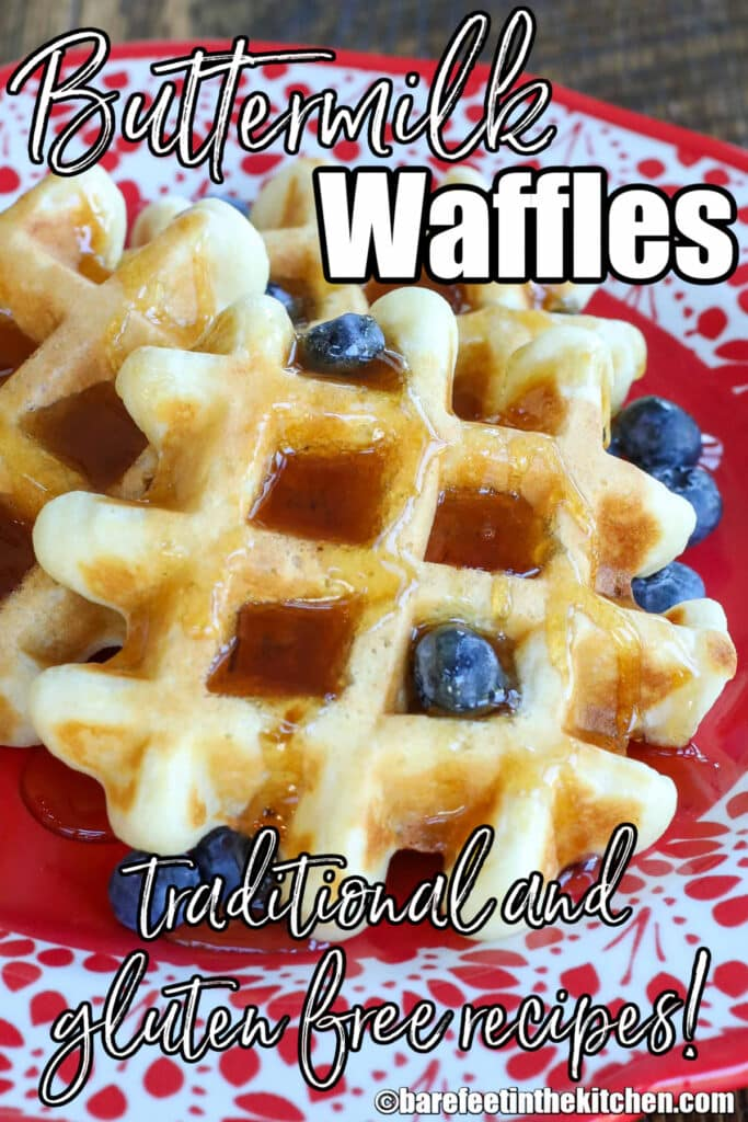 Best Buttermilk Waffles with traditional or gluten-free recipes included!
