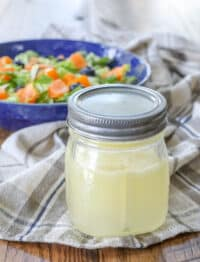 Champagne Vinaigrette is a tangy sweet dressing that's perfect for any side salad.