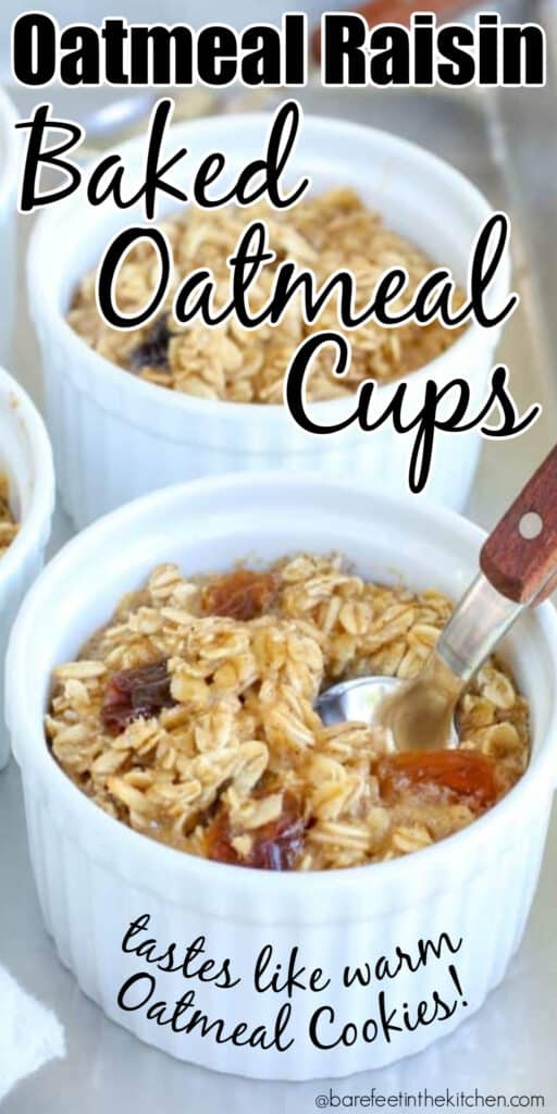 Raisin Baked Oatmeal Cups