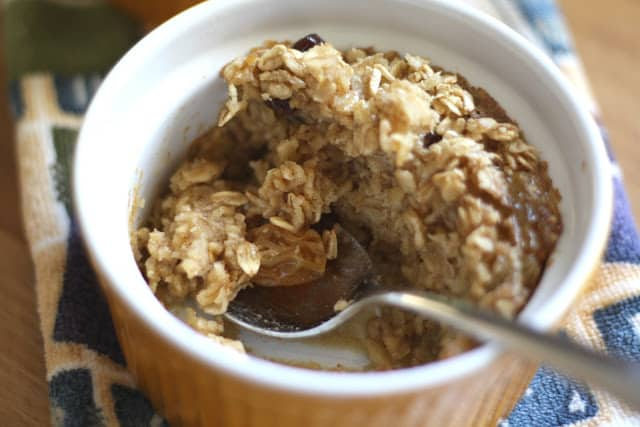Chewy Raisin Baked Oatmeal Cups recipe by Barefeet In The Kitchen