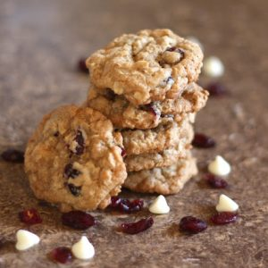 Cranberry Chocolate Chip Oatmeal Cookies {traditional and gluten free recipes}